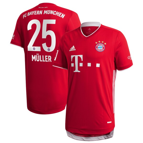 アディダス メンズ ユニフォーム トップス Thomas Mller Bayern Munich adidas 2020/21 Home Authentic Jersey Red