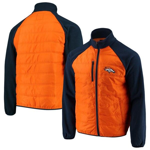 カールバンクス メンズ ジャケット&ブルゾン アウター Denver Broncos GIII Sports by Carl Banks Reinforcer FullZip Jacket Orange/Navy