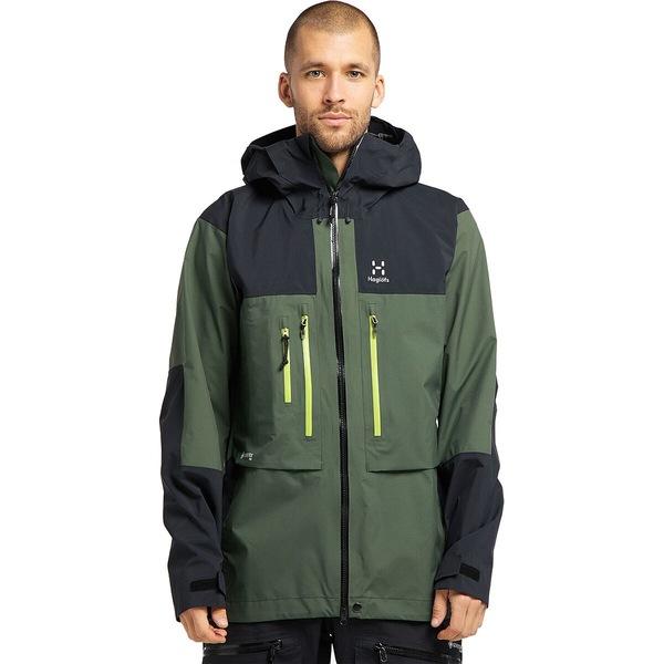 ホグロフス メンズ アウター 贈呈 ジャケット ブルゾン Fjell Green True 超目玉 Black Nordic - Pro GTX Jacket Roc Men's 全商品無料サイズ交換
