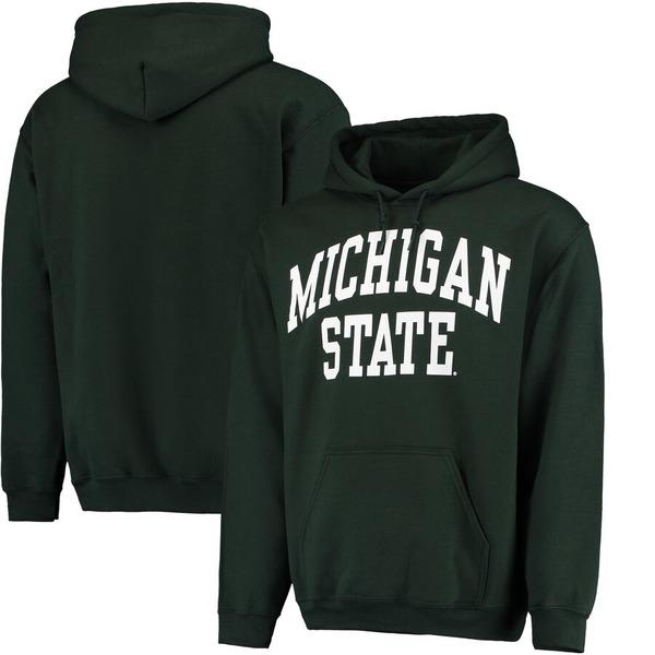 ファナティクス メンズ パーカー・スウェットシャツ アウター Michigan State Spartans Basic Arch Pullover Hoodie Green