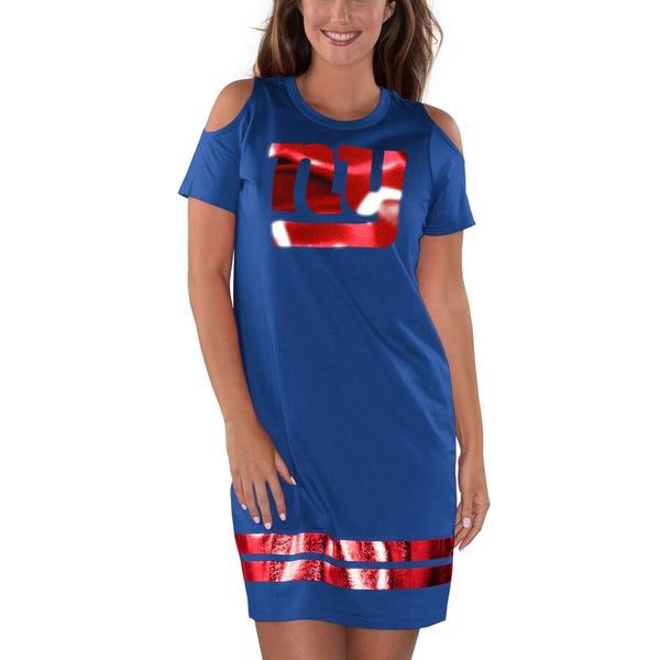 カールバンクス レディース ワンピース トップス New York Giants G-III 4Her by Carl Banks Women's Finals Dress Royal/Red