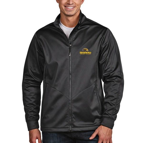 アンティグア メンズ ジャケット&ブルゾン アウター Southern Miss Golden Eagles Antigua Golf Full-Zip Jacket Charcoal
