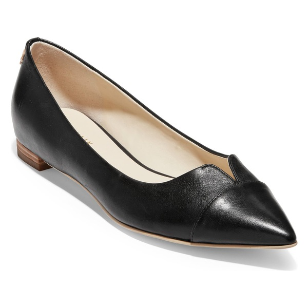 コールハーン レディース サンダル シューズ Cole Haan Ednah Skimmer Flat (Women) Black Leather