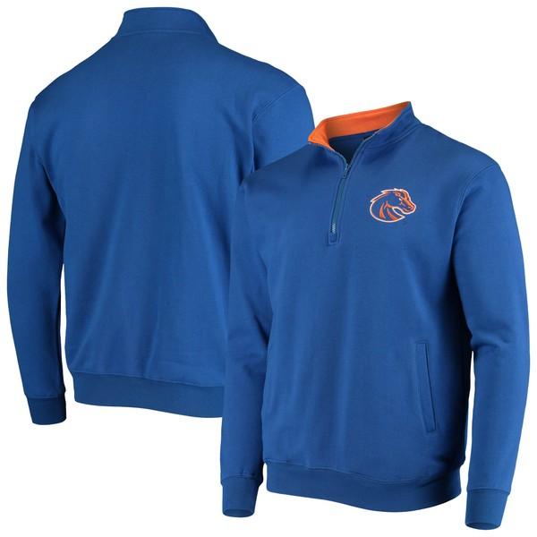 コロシアム メンズ ジャケット&ブルゾン アウター Boise State Broncos Colosseum Tortugas Logo QuarterZip Jacket Heathered Gray