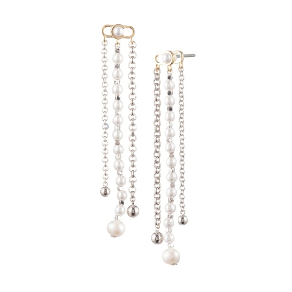 キャロリー レディース ピアス&イヤリング アクセサリー Sara Goldtone, C-Link Freshwater & Faux Pearl Chandelier Earrings Gold
