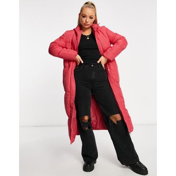 安心の実績 高価 買取 強化中 スレッドベア レディース 定番 アウター コート Red puffer 全商品無料サイズ交換 longline coat Threadbare