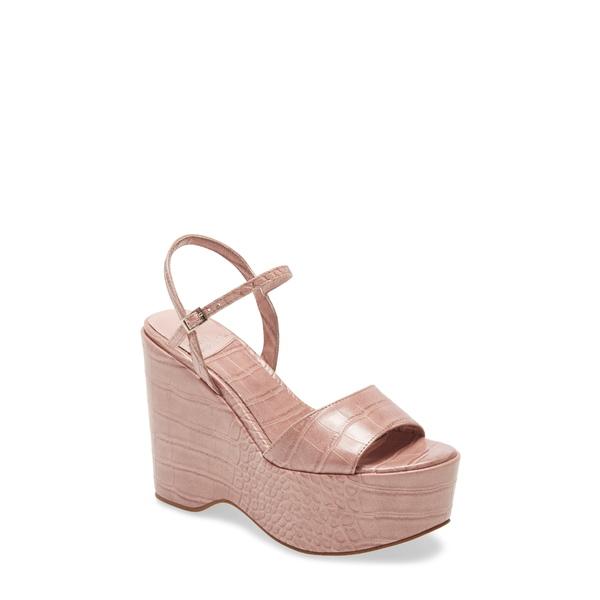 ジェフリー キャンベル レディース サンダル シューズ Anamaria Platform Wedge Sandal Pink Croco