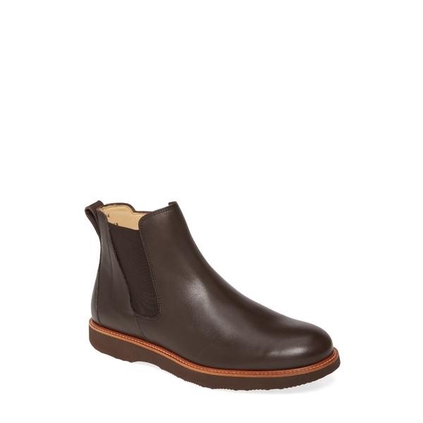 サミュエルフドバード メンズ ブーツ&レインブーツ シューズ 24 Seven Zip Boot Dark Brown Leather