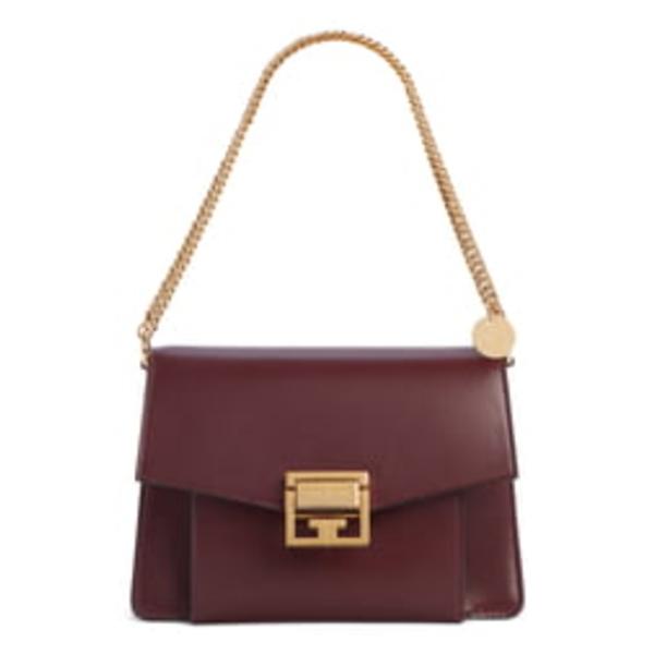 ジバンシー レディース ショルダーバッグ バッグ Small GV3 Leather Crossbody Bag Aubergine