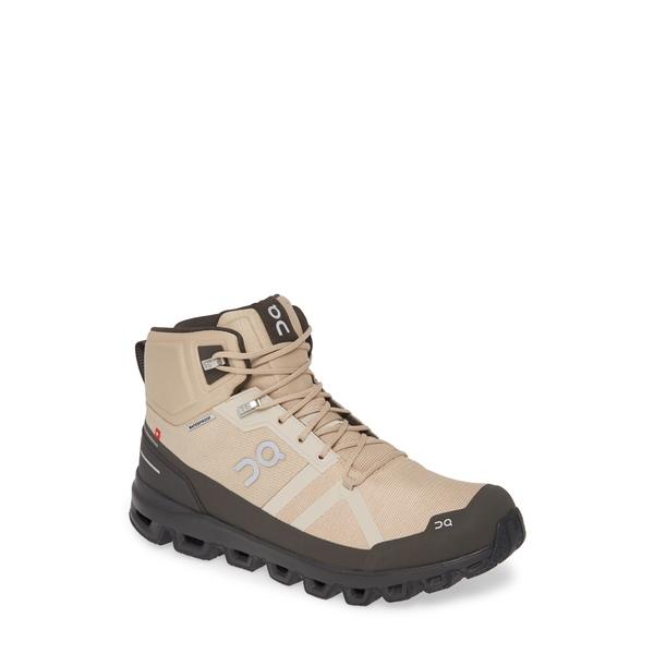 オン メンズ ブーツ&レインブーツ シューズ Cloudrock Waterproof Hiking Boot Sand/ Black