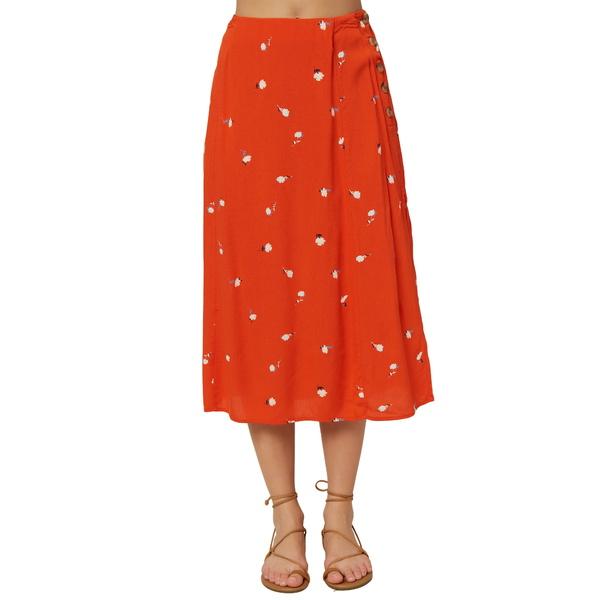 オニール レディース スカート ボトムス Familia Floral Midi Skirt Red Clay