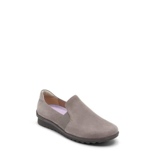 アラヴォン レディース サンダル シューズ Josie Comfort Flat Grey Taupe Nubuck Leather
