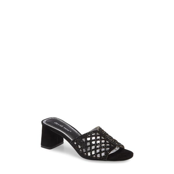 ダイビッドテイト レディース サンダル シューズ Clarity Block Heel Sandal Black Suede