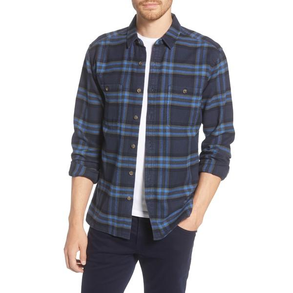 ライフ アフター デニム メンズ シャツ トップス Plaid Flannel Shirt Navy