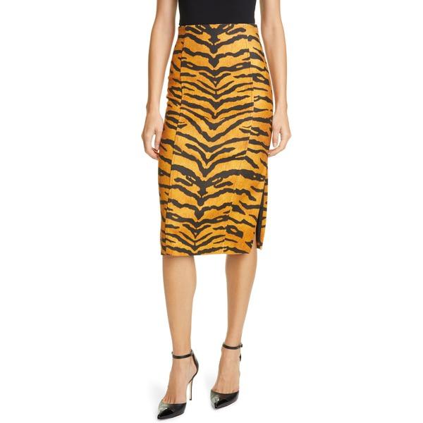 アダム リピズ レディース スカート ボトムス Tiger Print Stretch Pencil Skirt Tiger