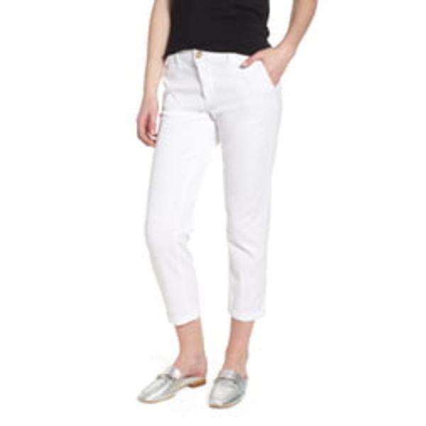 エージー レディース カジュアルパンツ ボトムス Caden Crop Twill Trousers White