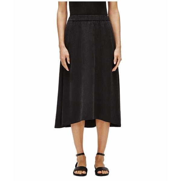 エイリーンフィッシャー レディース スカート ボトムス Calf Length A-Line Skirt Black