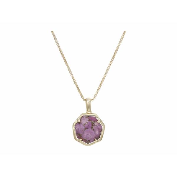 ケンドラスコット レディース ネックレス・チョーカー・ペンダントトップ アクセサリー Cynthia Small Long Pendant Necklace Gold/Bronze/Veined Lilac