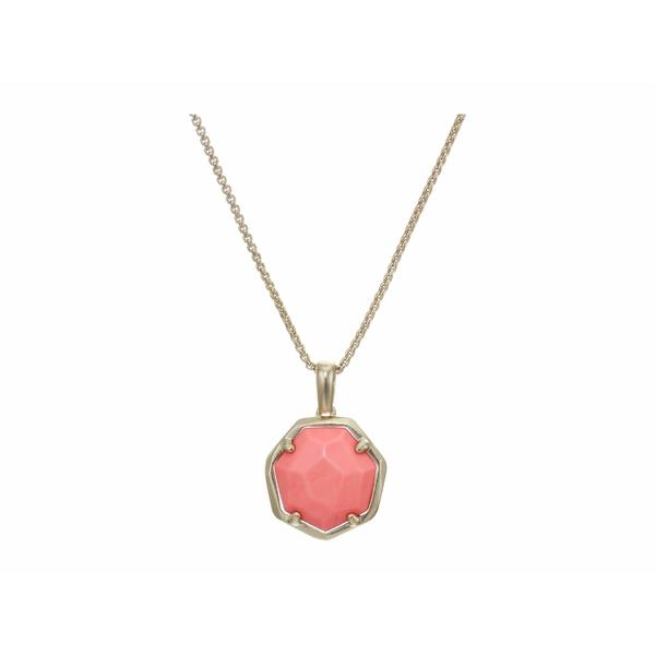 ケンドラスコット レディース ネックレス・チョーカー・ペンダントトップ アクセサリー Cynthia Small Long Pendant Necklace Gold/Bright Coral