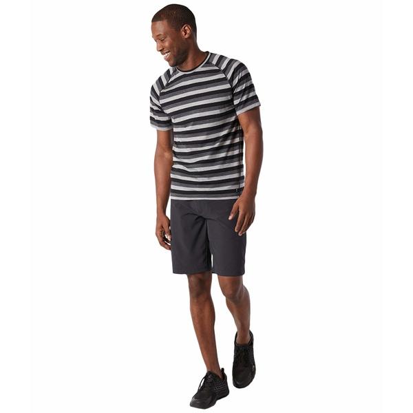 スマートウール メンズ シャツ トップス Merino 150 Baselayer Short Sleeve Iron Stripe