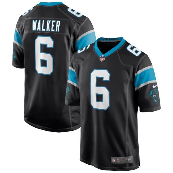 ナイキ メンズ ユニフォーム トップス P.J. Walker Carolina Panthers Nike Game Jersey Black