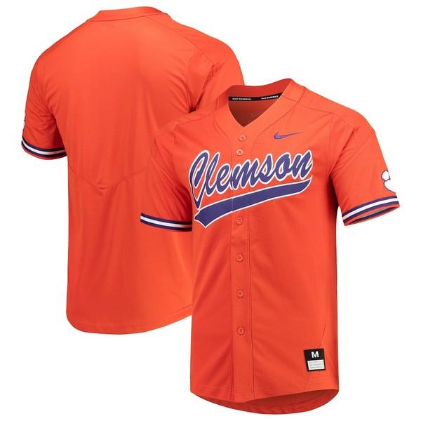 ナイキ メンズ シャツ トップス Clemson Tigers Nike Vapor Untouchable Elite Full-Button Replica Baseball Jersey Orange