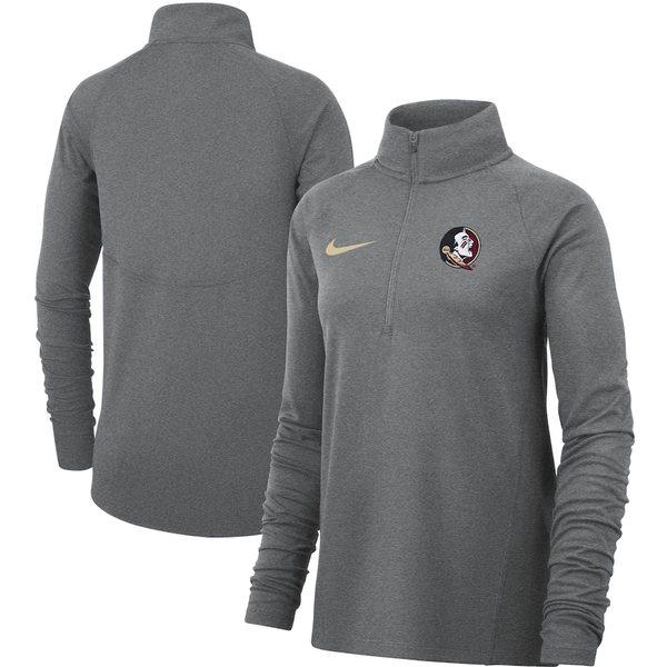 ナイキ レディース ジャケット&ブルゾン アウター Florida State Seminoles Nike Women's Element Essential Performance Half-Zip Pullover Jacket Heathered Gray