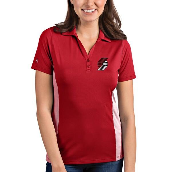 アンティグア レディース ポロシャツ トップス Portland Trail Blazers Antigua Women's Venture Polo Red/White