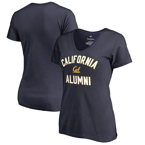 ファナティクス レディース Tシャツ トップス Cal Bears Fanatics Branded Women's Plus Sizes Team Alumni T-Shirt Navy