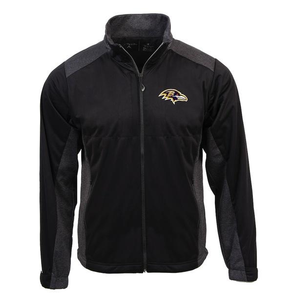 アンティグア メンズ ジャケット&ブルゾン アウター Baltimore Ravens Antigua Revolve Full-Zip Jacket Black