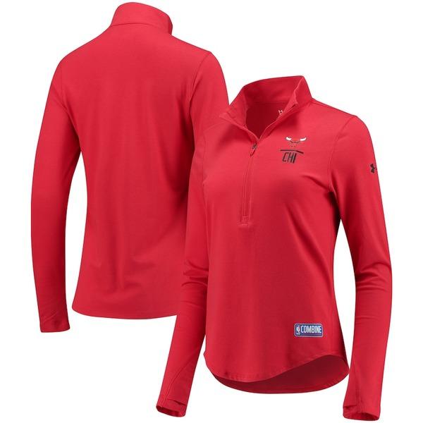 アンダーアーマー レディース ジャケット&ブルゾン アウター Chicago Bulls Under Armour Women's Favorites Half-Zip Pullover Jacket Red