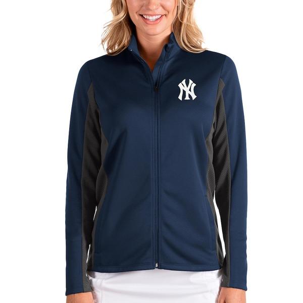 アンティグア レディース ジャケット&ブルゾン アウター New York Yankees Antigua Women's Passage Full-Zip Jacket Navy/Charcoal