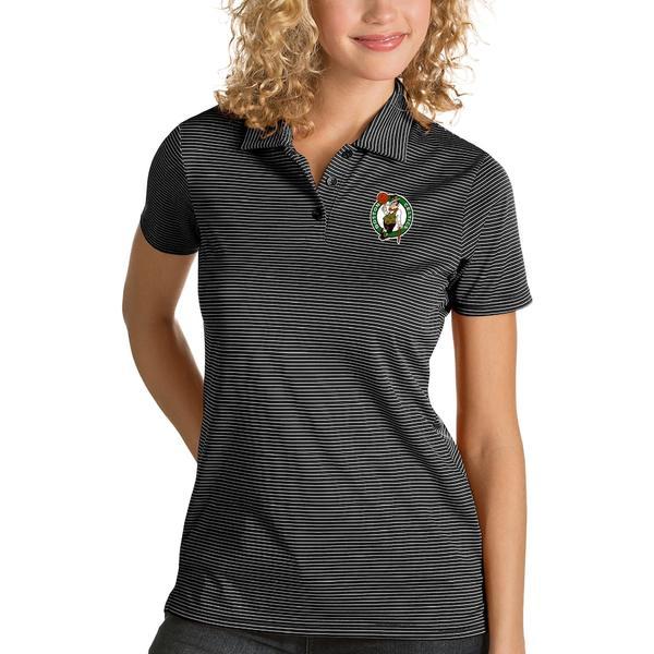 アンティグア レディース ポロシャツ トップス Boston Celtics Antigua Women's Quest Polo Black