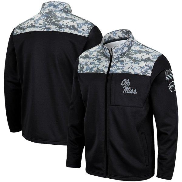 コロシアム メンズ ジャケット&ブルゾン アウター Ole Miss Rebels Colosseum OHT Military Appreciation Fleece Full-Zip Jacket Charcoal