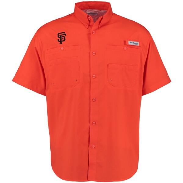 コロンビア メンズ シャツ トップス San Francisco Giants Columbia Tamiami Button-Down Shirt Orange