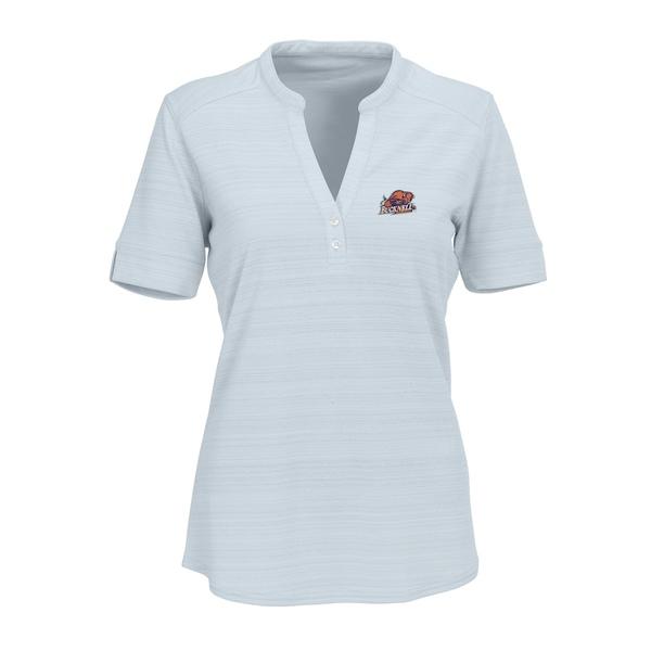 ビンテージアパレル レディース シャツ トップス Bucknell Bison Women's Strata Textured Henley Shirt Silver