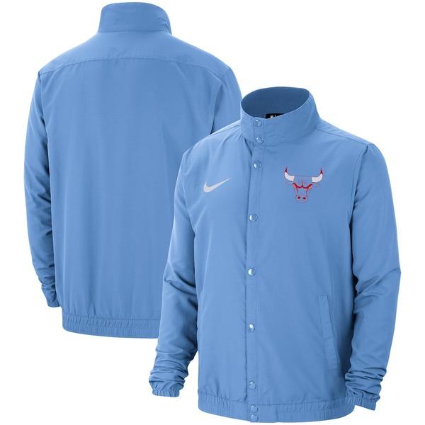 ナイキ メンズ ジャケット&ブルゾン アウター Chicago Bulls Nike City Edition 2.0 Lightweight DNA Full-Snap Jacket Blue