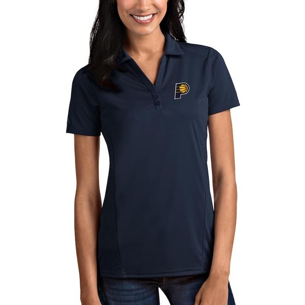 アンティグア レディース ポロシャツ トップス Indiana Pacers Antigua Women's Tribute Polo Navy