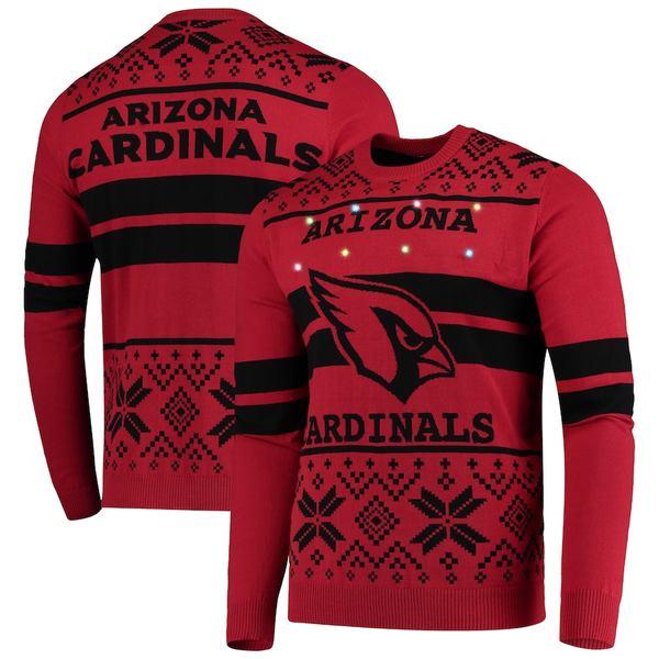 フォコ メンズ シャツ トップス Arizona Cardinals Light Up Ugly Sweater Cardinal/Black