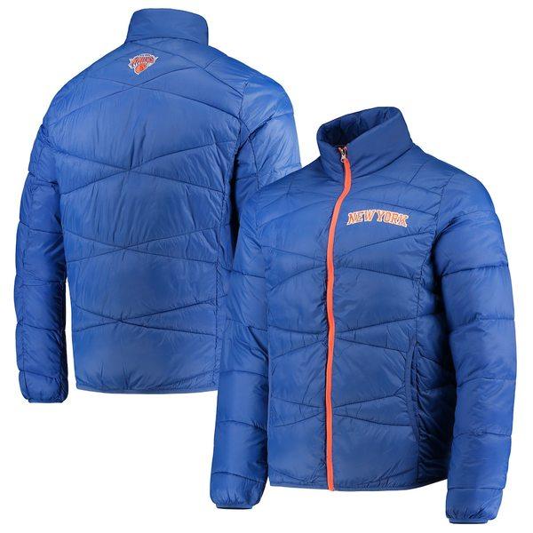 カールバンクス メンズ ジャケット&ブルゾン アウター New York Knicks G-III Sports by Carl Banks Blitz Full-Zip Packable Jacket Blue