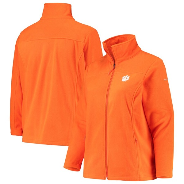 コロンビア レディース ジャケット&ブルゾン アウター Clemson Tigers Columbia Women's Plus Size Give & Go II Fleece Full-Zip Jacket Orange
