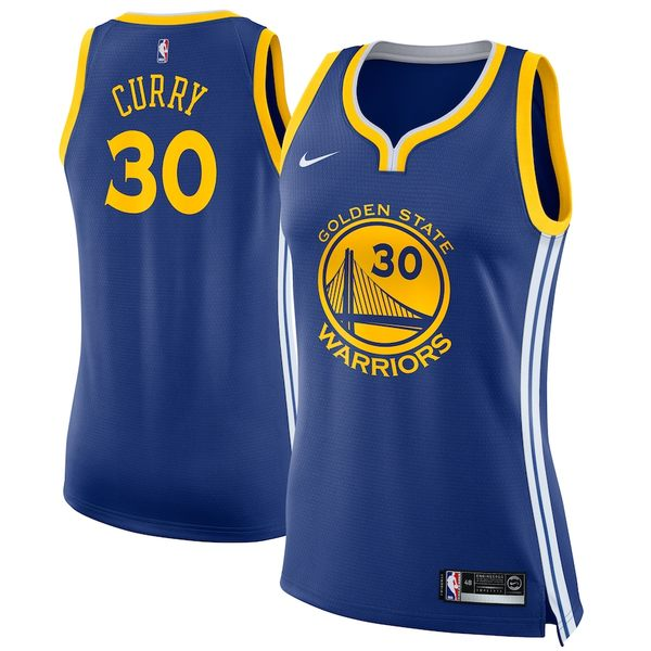 ナイキ レディース シャツ トップス Stephen Curry Golden State Warriors Nike Women's Swingman Jersey Blue Icon Edition