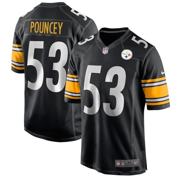 ナイキ メンズ シャツ トップス Maurkice Pouncey Pittsburgh Steelers Nike Game Jersey Black