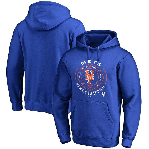 ファナティクス メンズ パーカー・スウェットシャツ アウター New York Mets Firefighter Pullover Hoodie Royal
