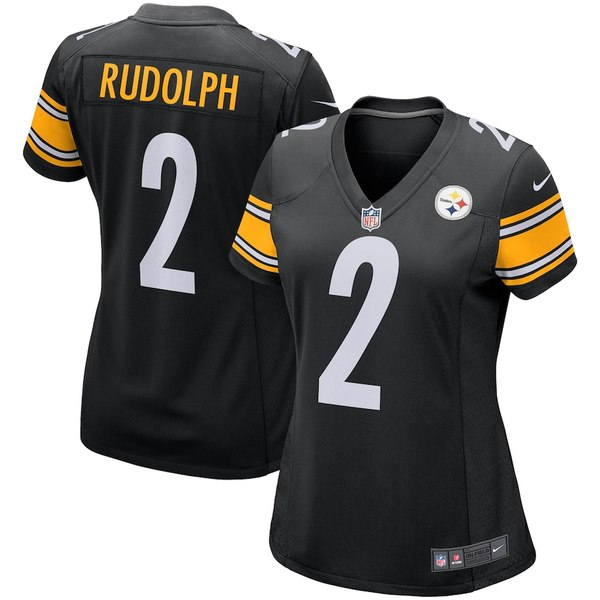 ナイキ レディース シャツ トップス Mason Rudolph Pittsburgh Steelers Nike Women's Game Jersey Black