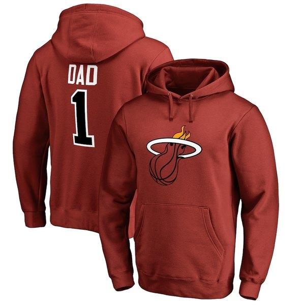 ファナティクス メンズ パーカー・スウェットシャツ アウター Miami Heat Fanatics Branded Big & Tall #1 Dad Pullover Hoodie Cardinal