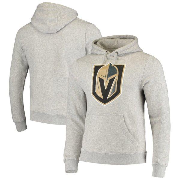 ファナティクス メンズ パーカー・スウェットシャツ アウター Vegas Golden Knights Fanatics Branded Primary Team Logo Fleece Pullover Hoodie Gray
