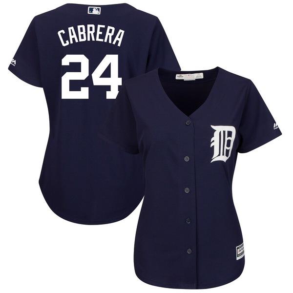 マジェスティック レディース シャツ トップス Miguel Cabrera Detroit Tigers Majestic Women's Plus Size Fashion Cool Base Player Jersey Navy