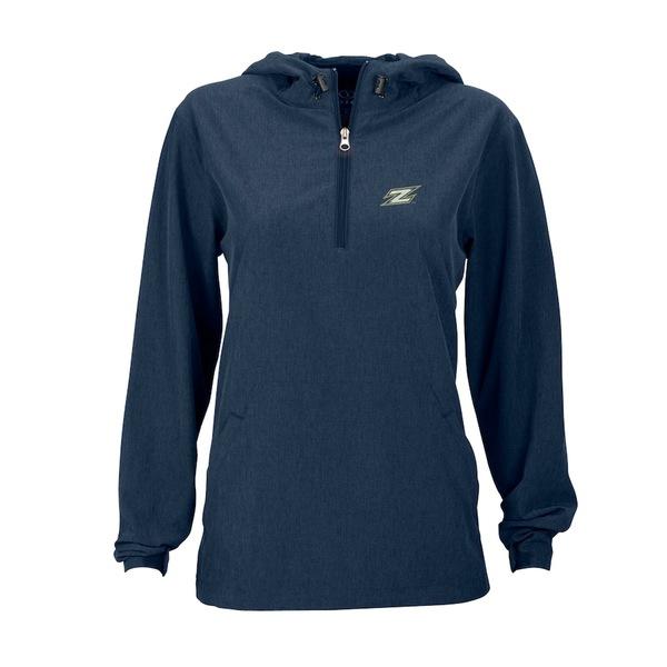 ビンテージアパレル レディース ジャケット&ブルゾン アウター Akron Zips Women's Pullover Stretch Anorak Jacket Navy