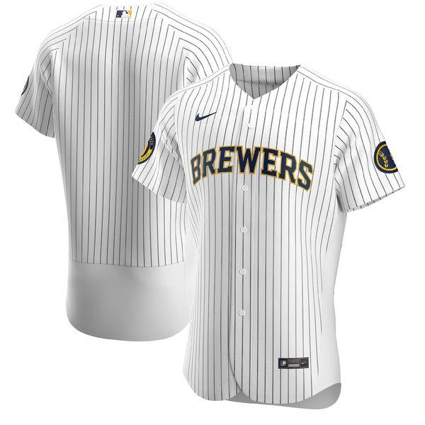 ナイキ メンズ シャツ トップス Milwaukee Brewers Nike Alternate 2020 Authentic Team Jersey White